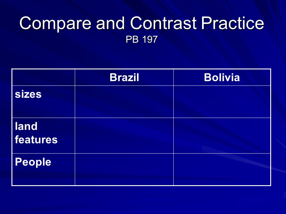 Compare and Contrast Practice PB 197