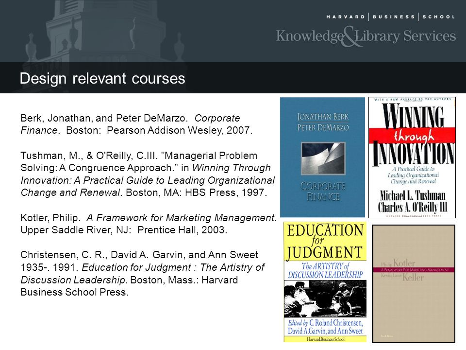 Design relevant courses