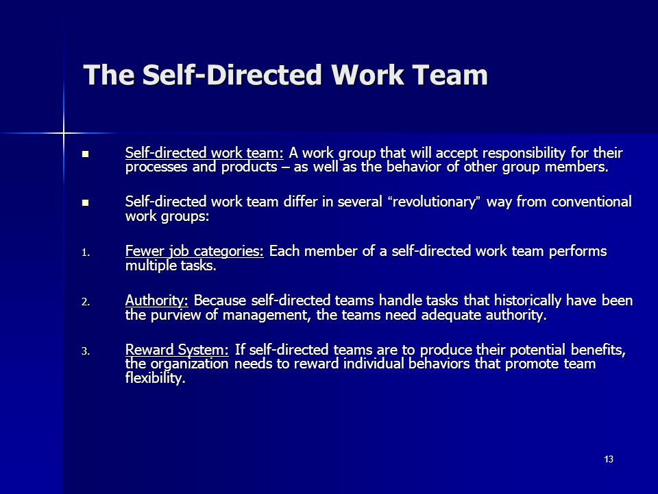 The Self-Directed Work Team