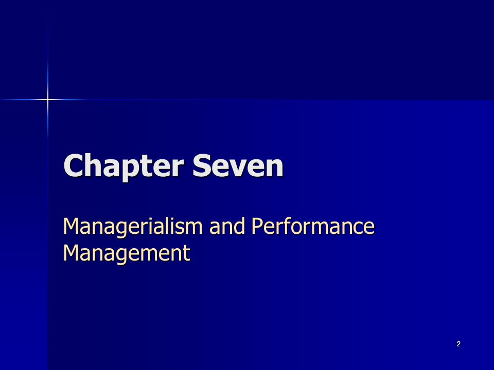 Managerialism and Performance Management