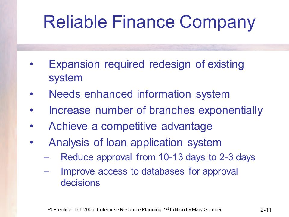 Reliable Finance Company