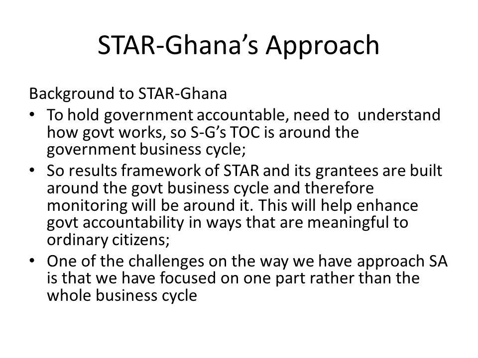 STAR-Ghana's Approach