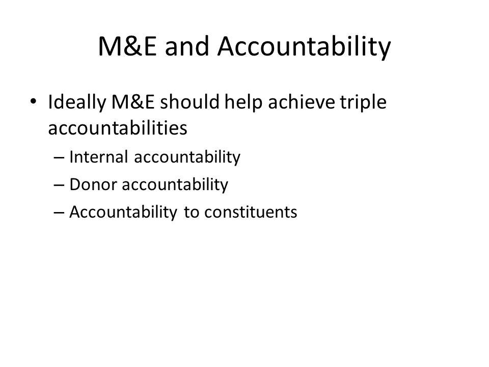 M&E and Accountability