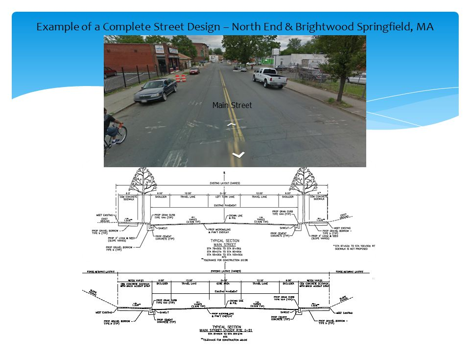 Example of a Complete Street Design – North End & Brightwood Springfield, MA
