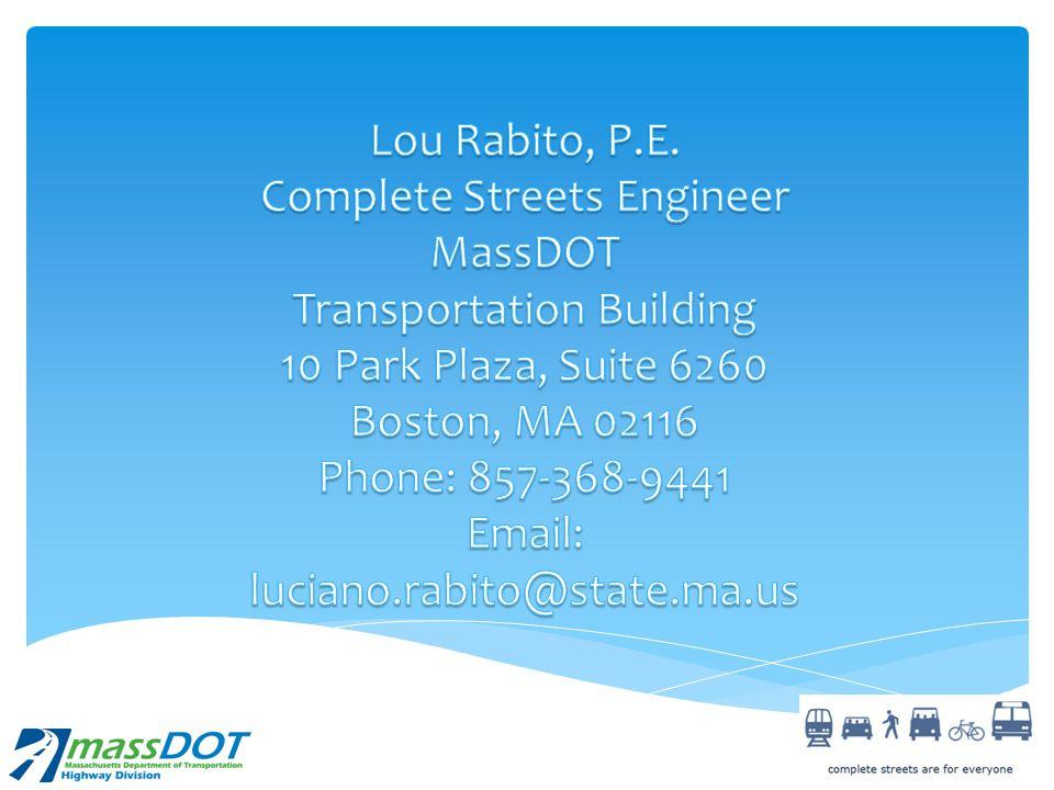 Complete Streets Engineer MassDOT Transportation Building