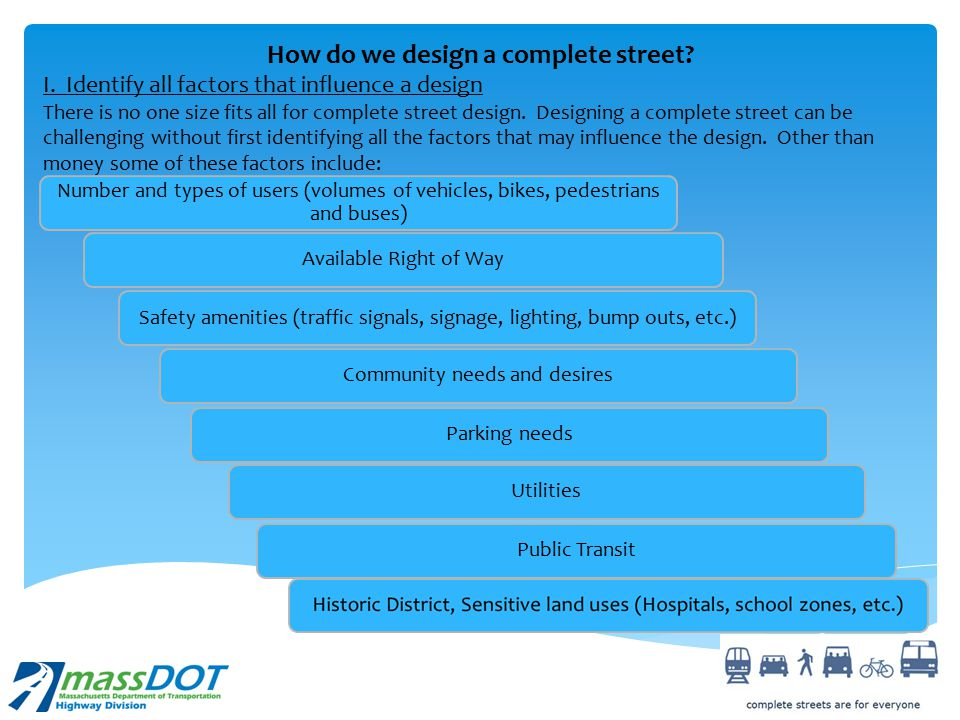 How do we design a complete street