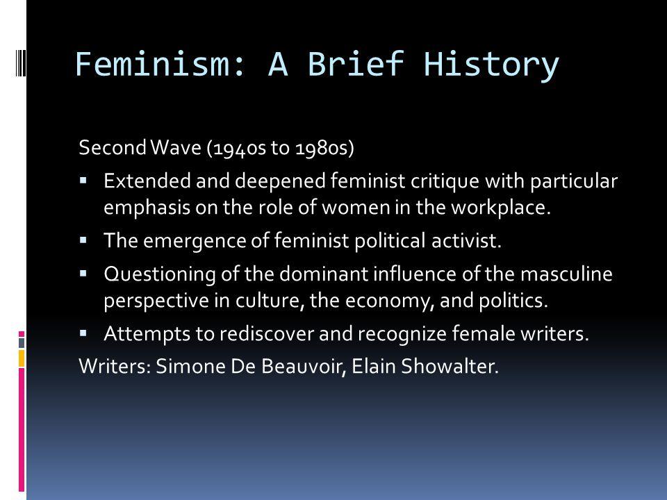 Feminism: A Brief History