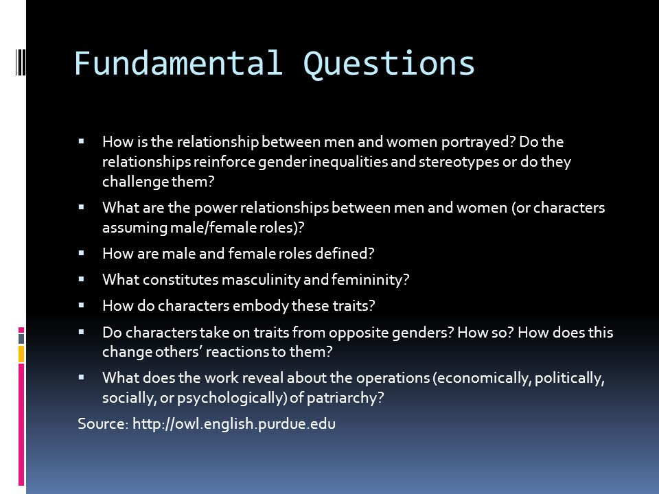 Fundamental Questions