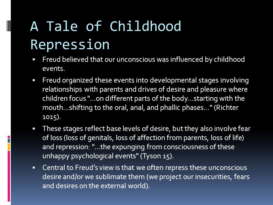 A Tale of Childhood Repression