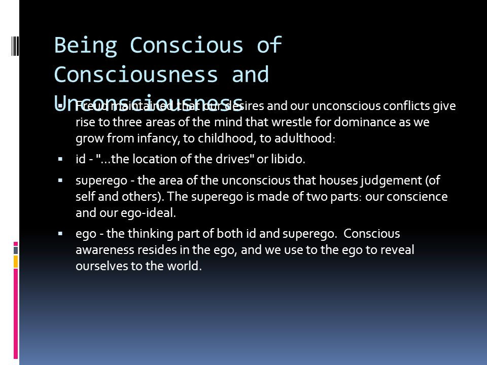 Being Conscious of Consciousness and Unconsciousness
