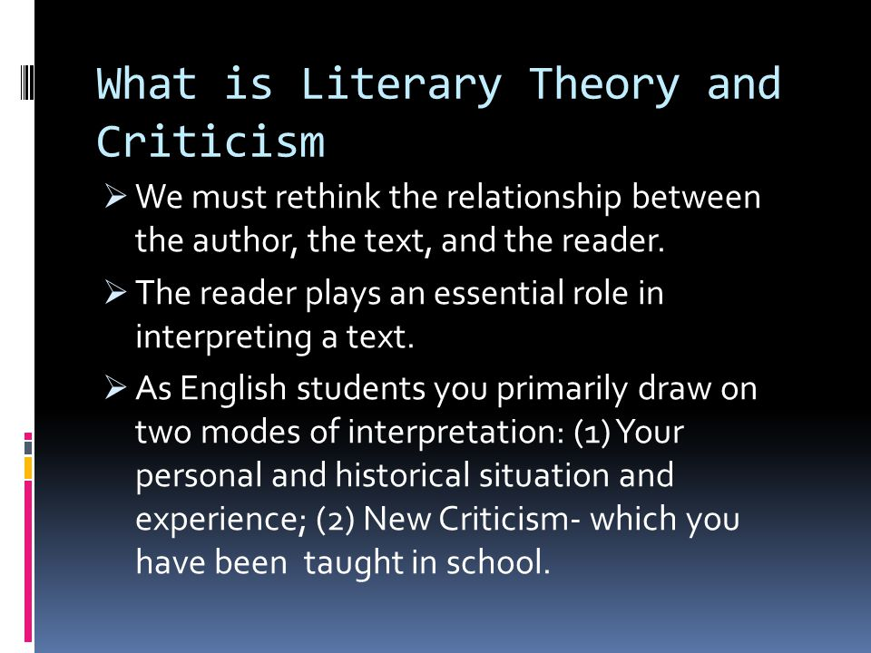 What is Literary Theory and Criticism