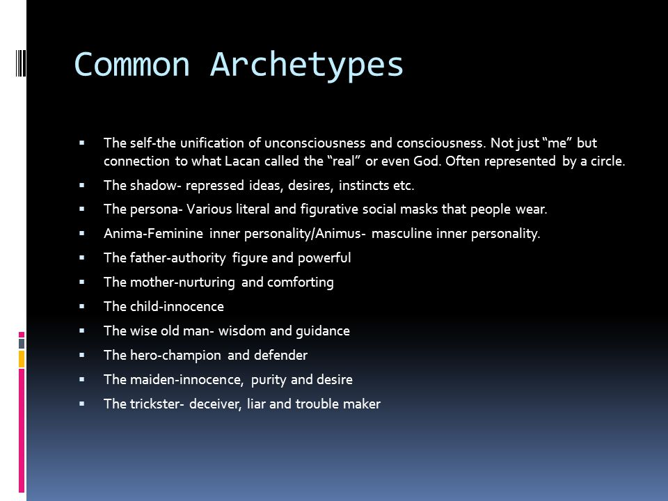 Common Archetypes