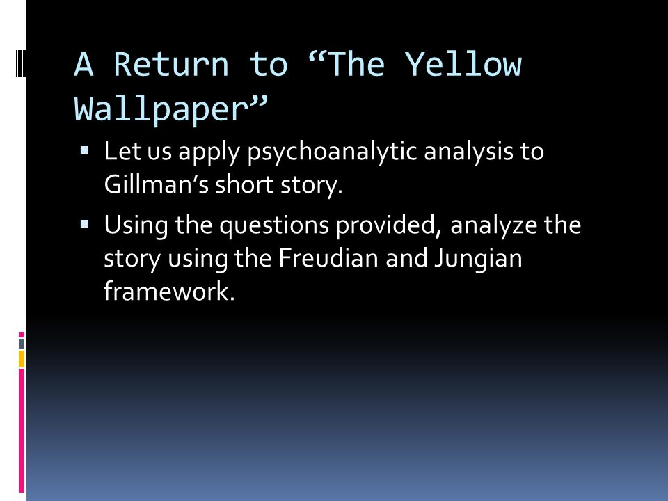 A Return to The Yellow Wallpaper