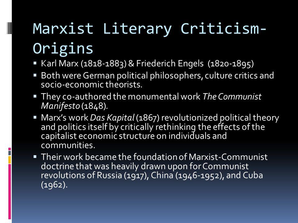 Marxist Literary Criticism-Origins