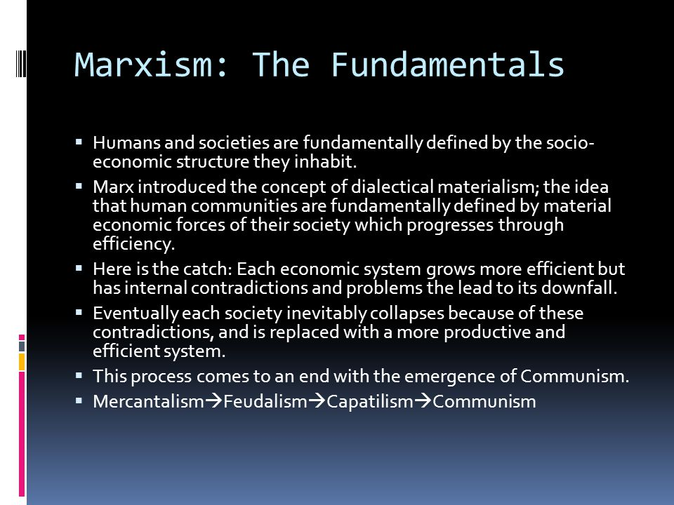 Marxism: The Fundamentals
