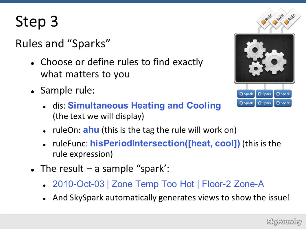 Step 3 Rules and Sparks