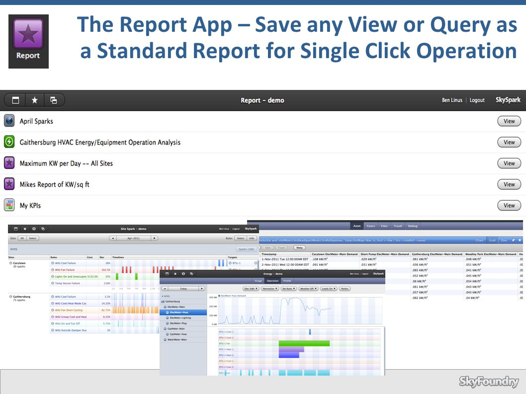 The Report App – Save any View or Query as a Standard Report for Single Click Operation