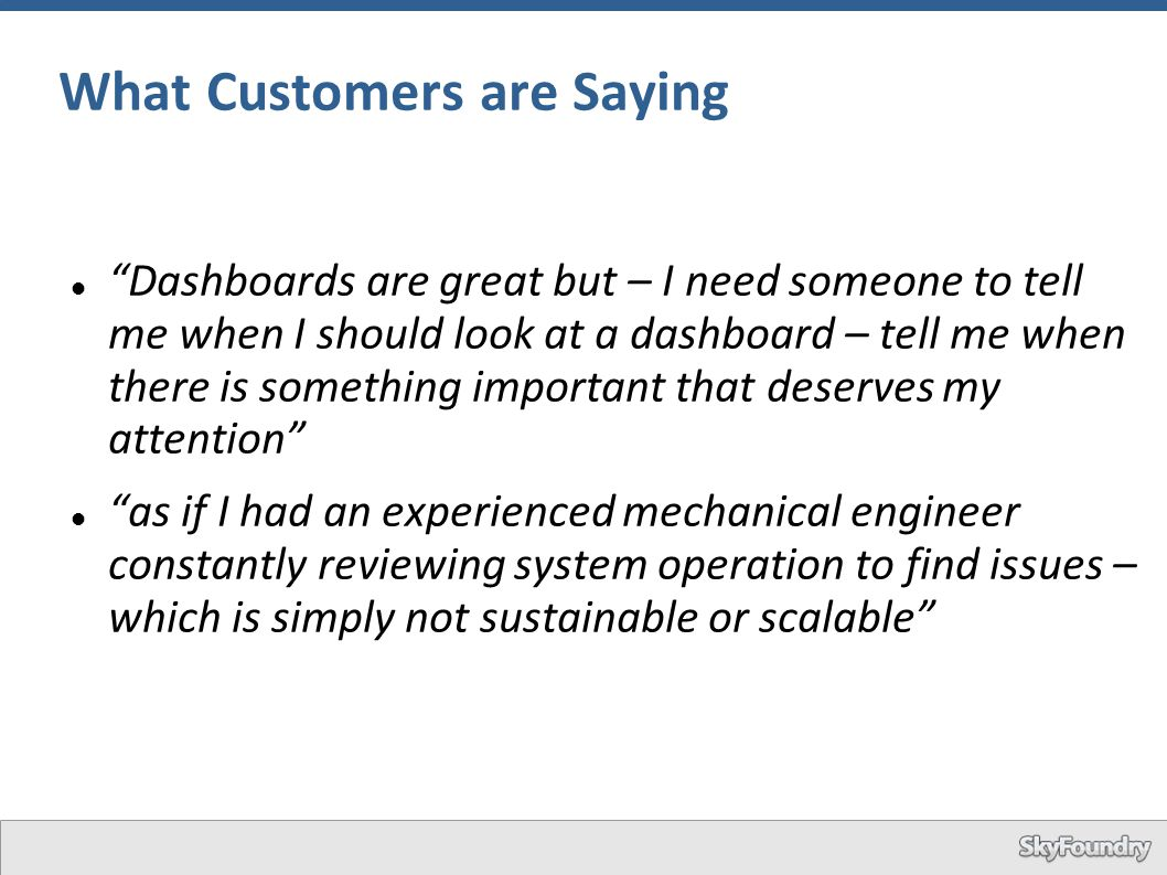 What Customers are Saying
