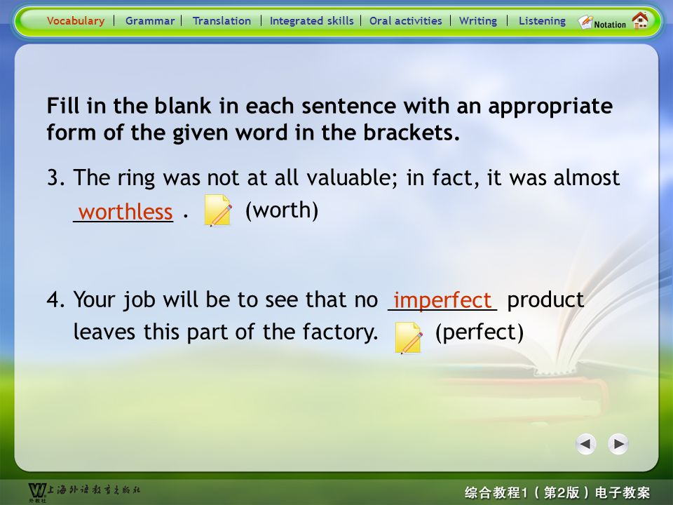 Consolidation Activities- Word derivation2