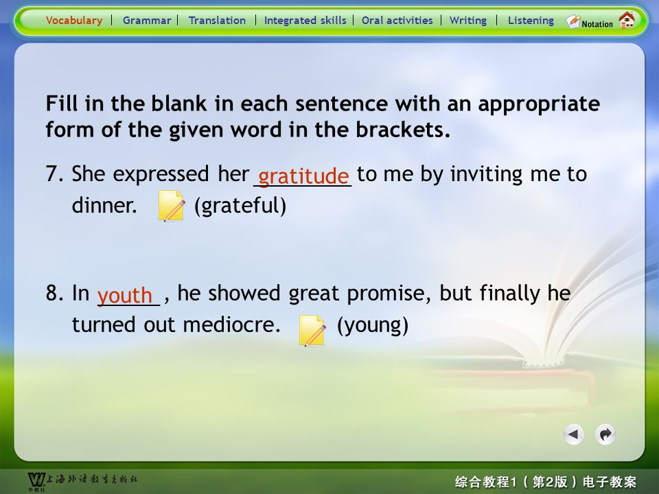 Consolidation Activities- Word derivation4