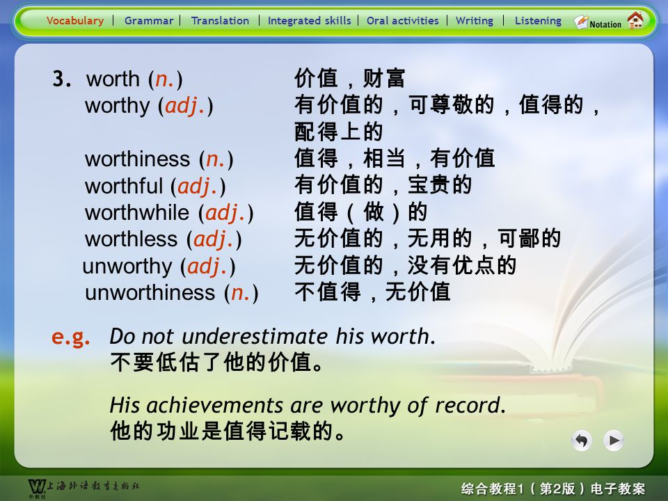 Consolidation Activities- Word derivation- worth 1
