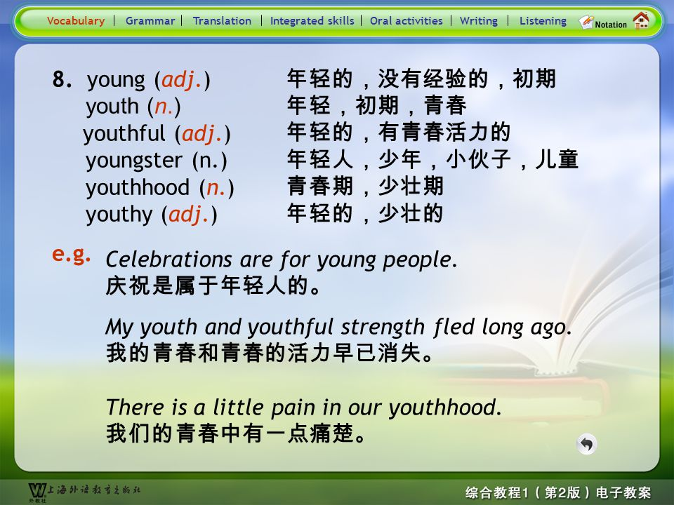 Consolidation Activities- Word derivation- young 1