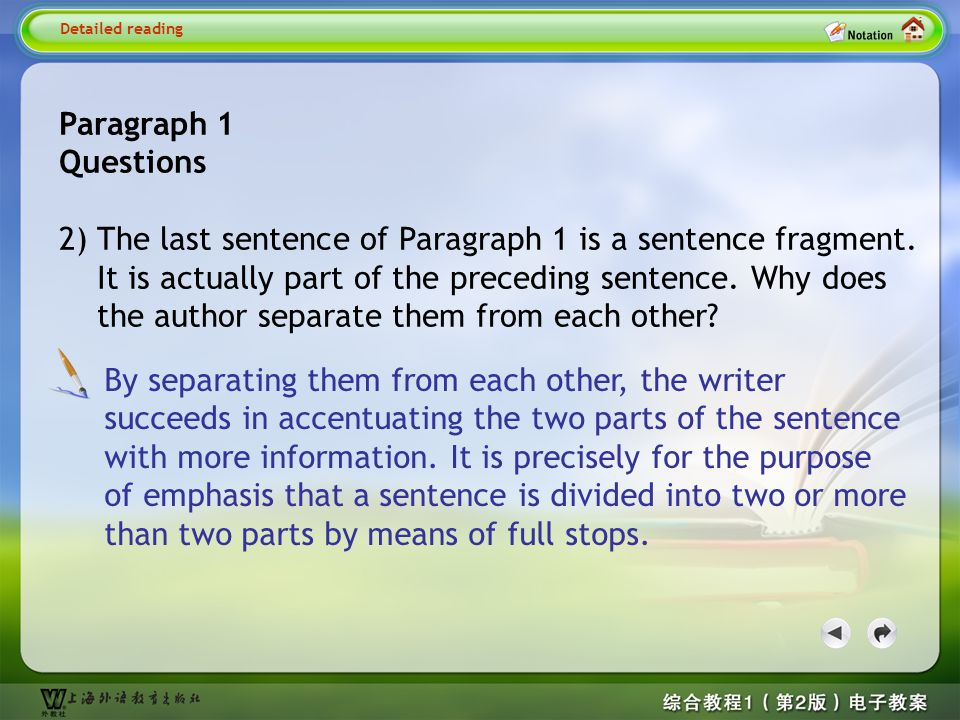 Detailed reading1--Quesion 2