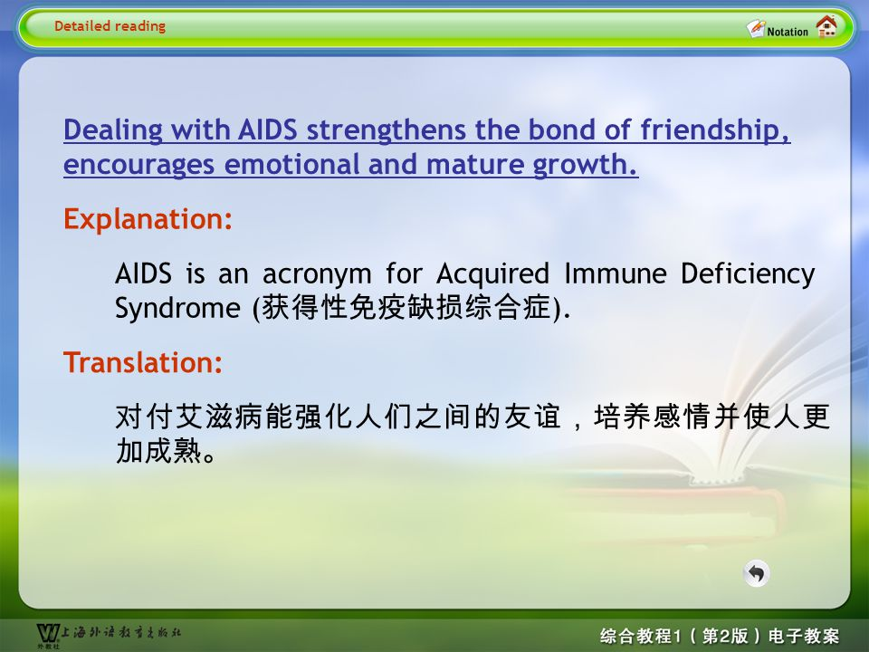 Detailed reading1– dealing with aids…