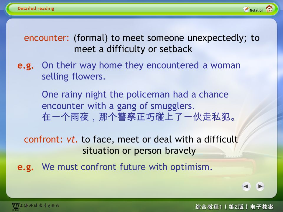 Detailed reading2– confront 2