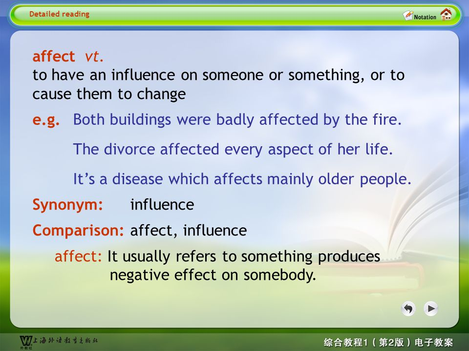 Detailed reading2-- affect 1