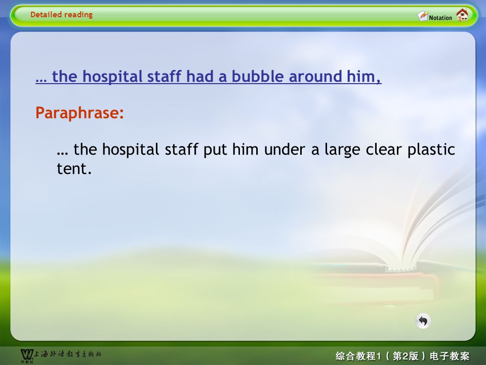 Detailed reading7-- … the hospital staff…
