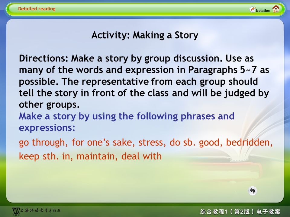 Activity: Making a Story