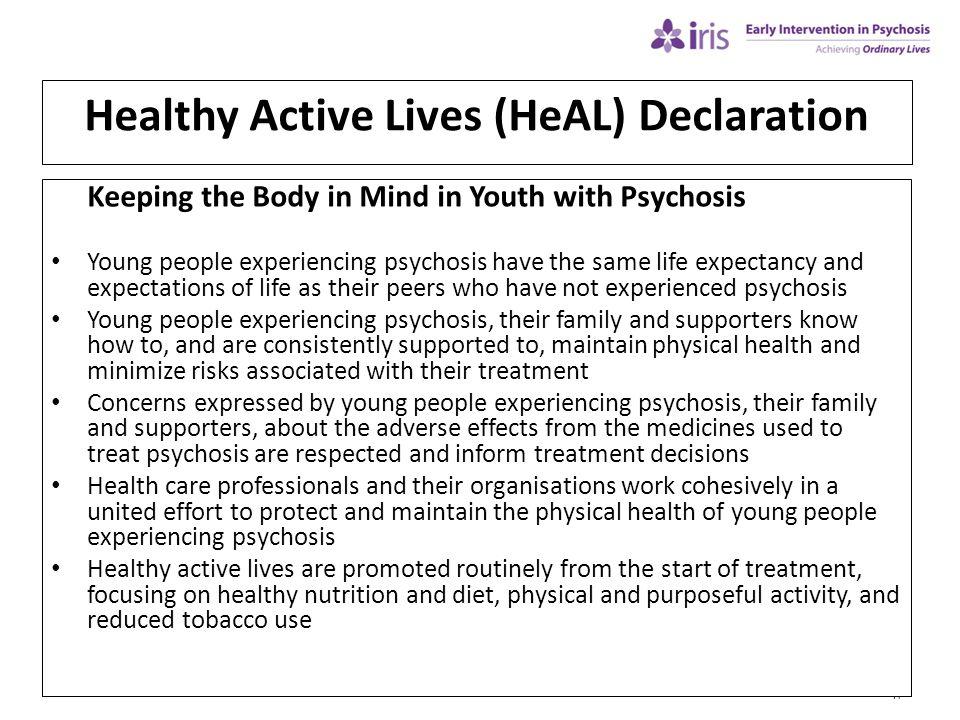 Healthy Active Lives (HeAL) Declaration