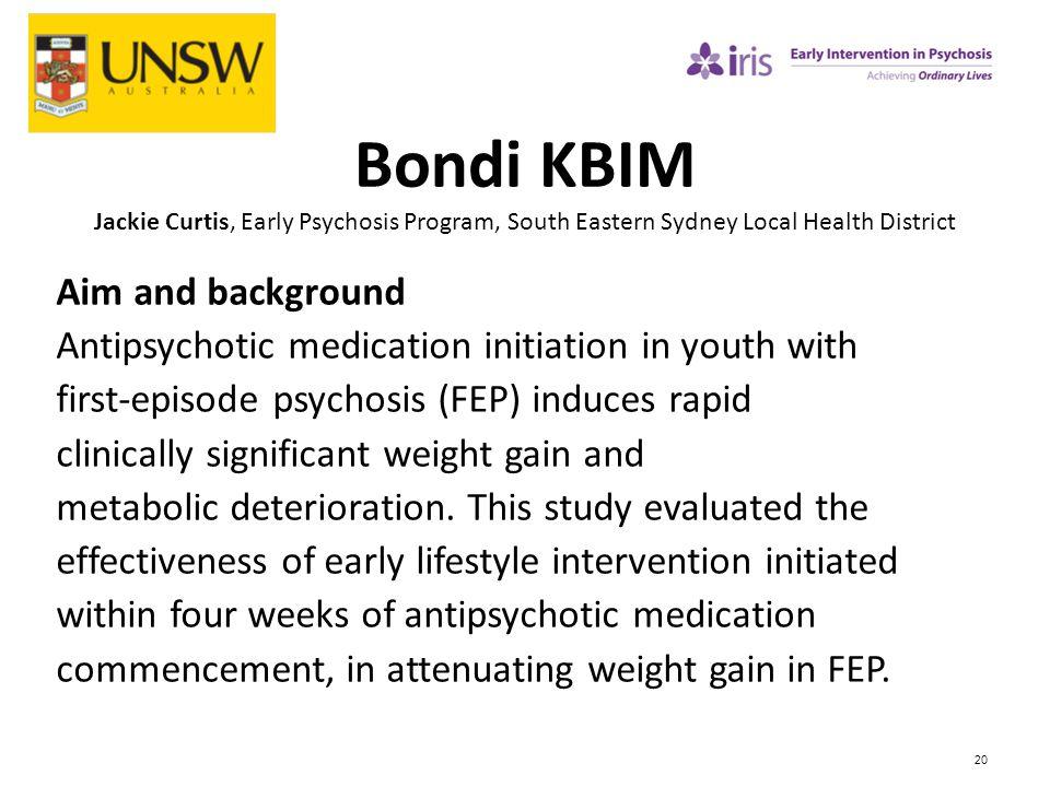 Bondi KBIM Jackie Curtis, Early Psychosis Program, South Eastern Sydney Local Health District