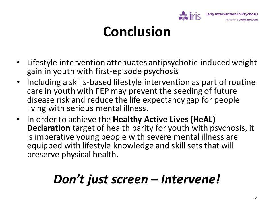 Don't just screen – Intervene!