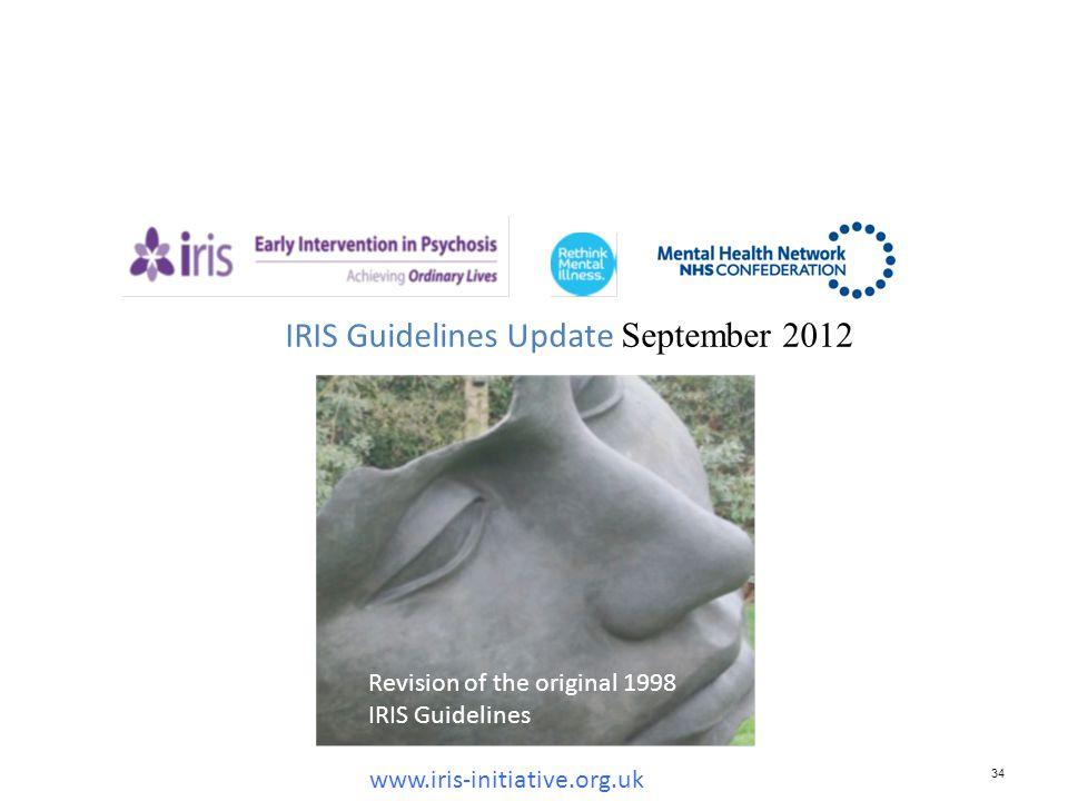IRIS Guidelines Update September 2012