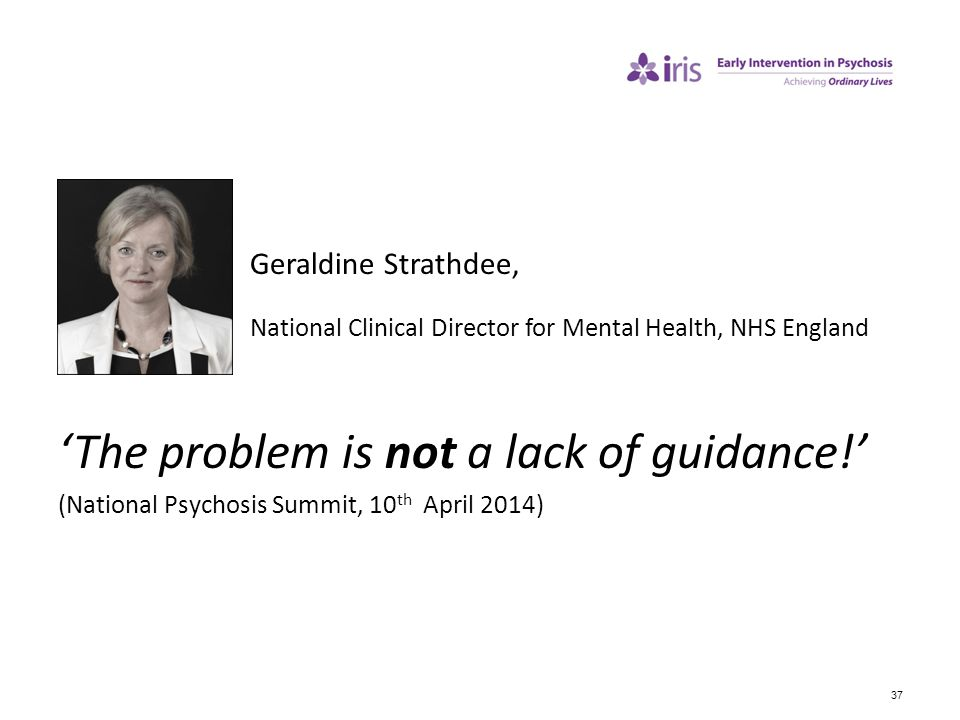 'The problem is not a lack of guidance!'