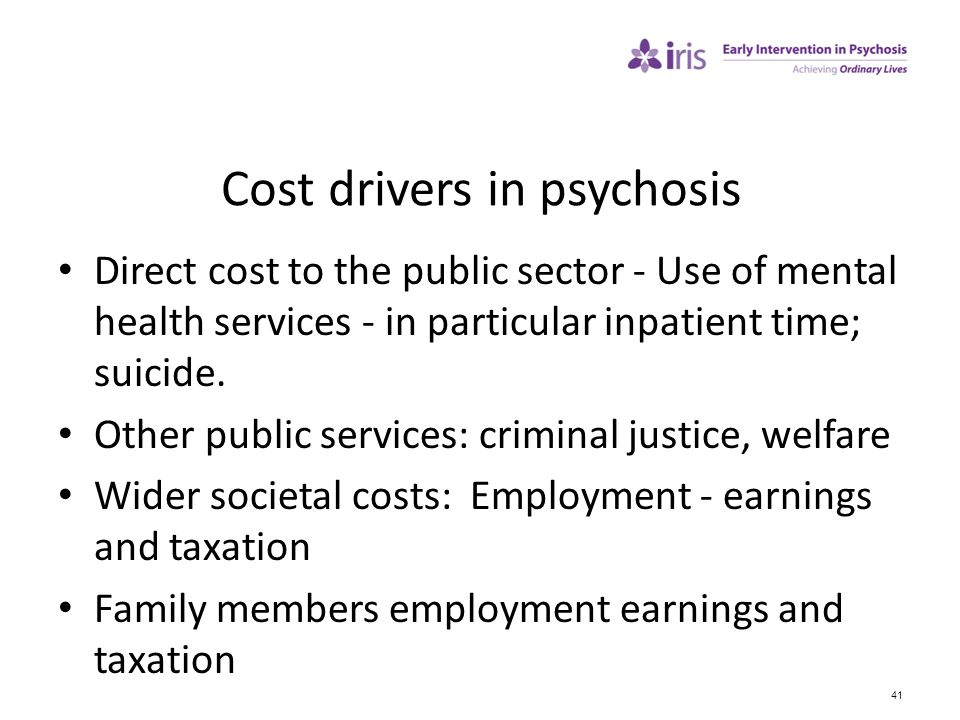 Cost drivers in psychosis