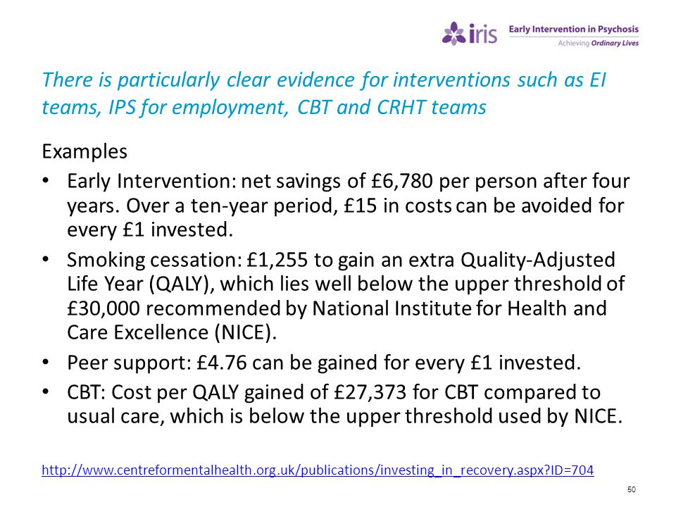 Peer support: £4.76 can be gained for every £1 invested.