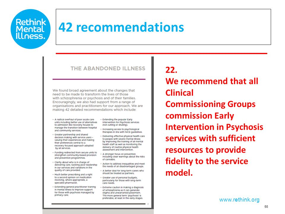 42 recommendations 22. We recommend that all Clinical
