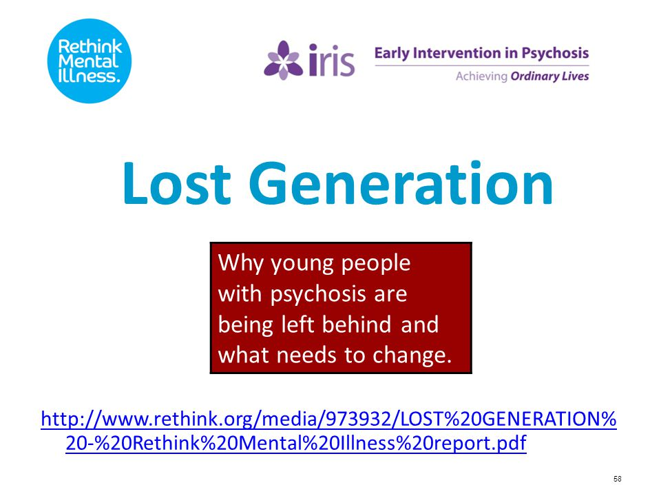 Lost Generation Why young people with psychosis are being left behind and what needs to change.