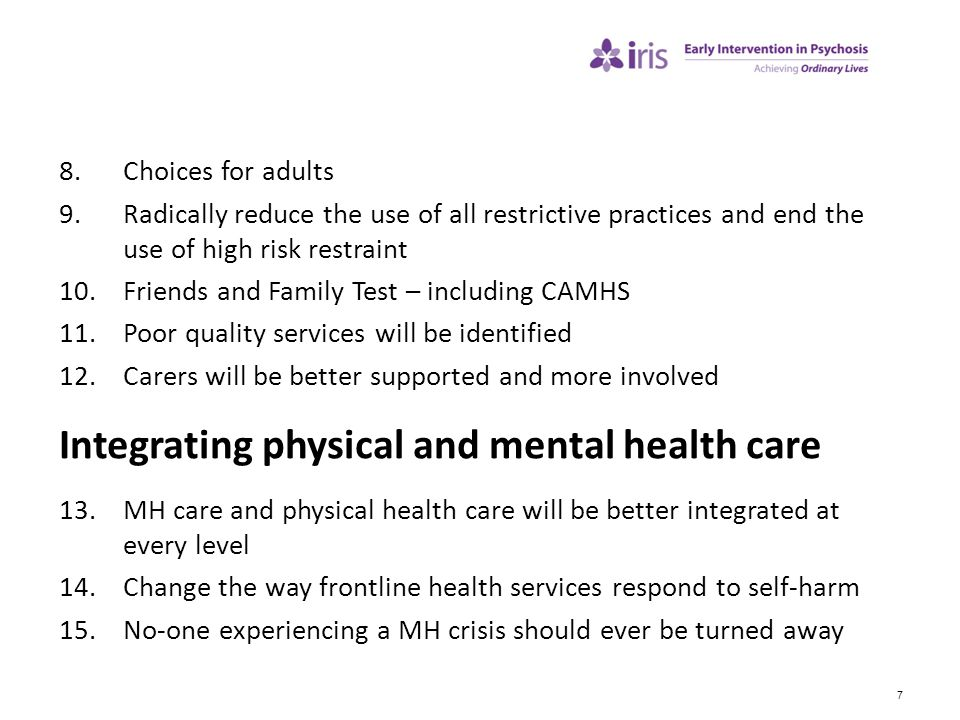Integrating physical and mental health care