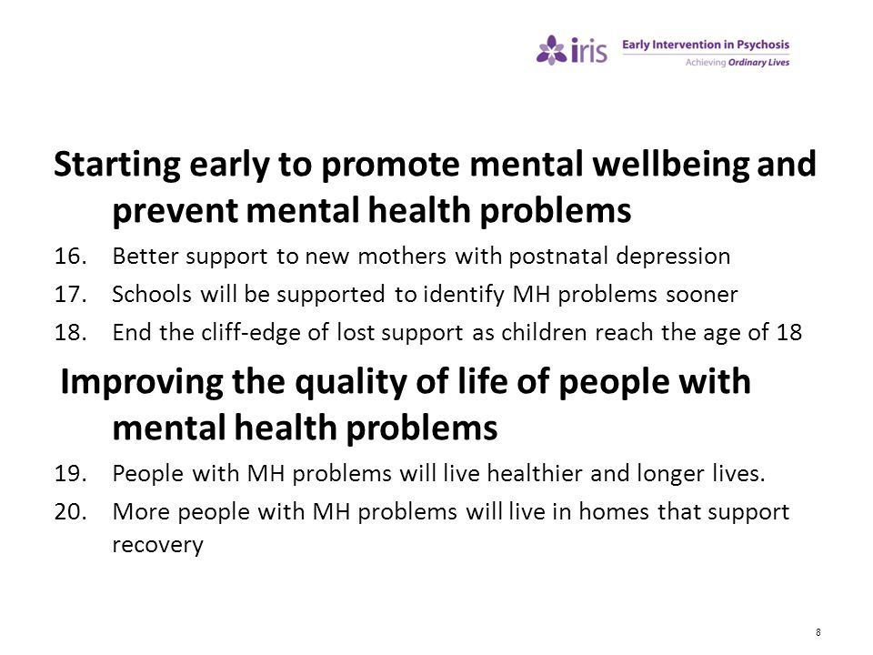Starting early to promote mental wellbeing and prevent mental health problems