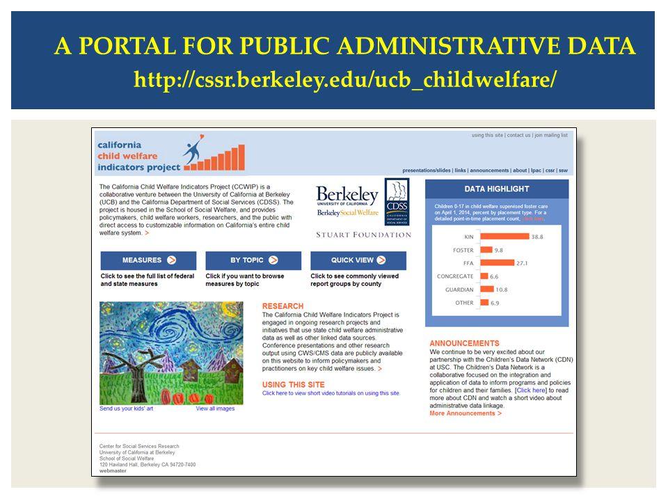 A PORTAL FOR PUBLIC ADMINISTRATIVE DATA