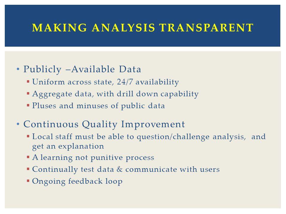 Making Analysis Transparent