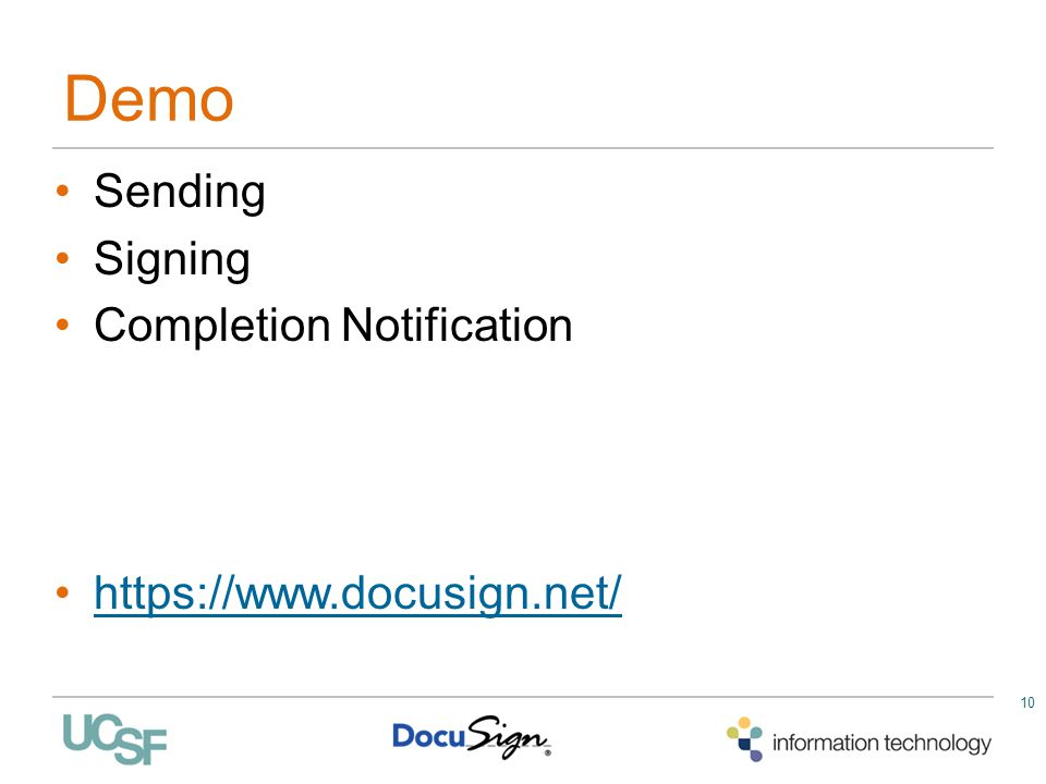 Demo Sending Signing Completion Notification https://www.docusign.net/