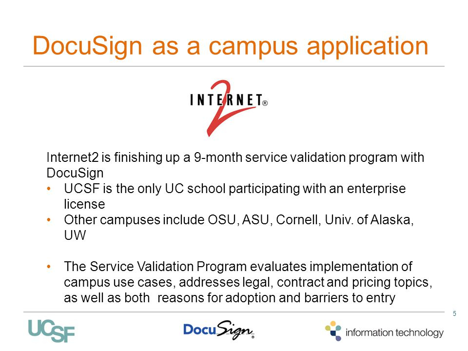 DocuSign as a campus application