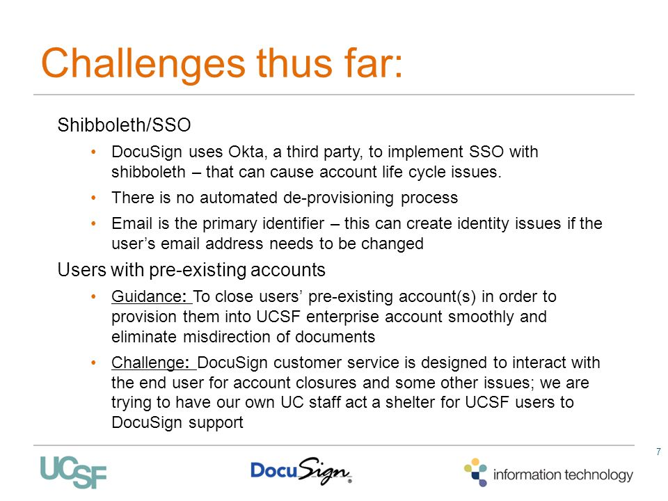 Challenges thus far: Shibboleth/SSO Users with pre-existing accounts