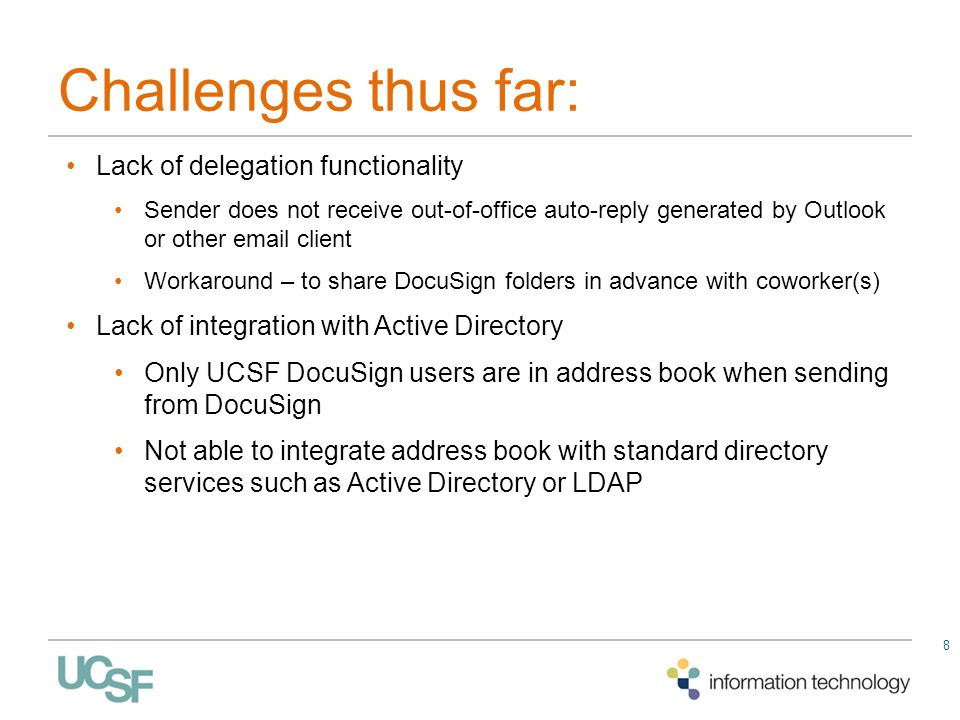 Challenges thus far: Lack of delegation functionality