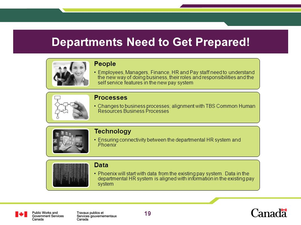 Departments Need to Get Prepared!